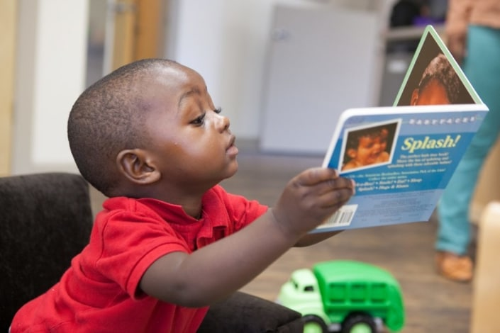 Children's Discovery Center black boy reading